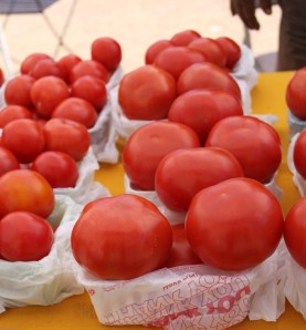 Juicy tomatoes from Rodriguez Farms